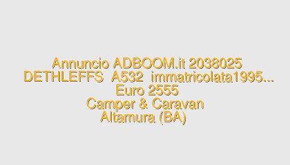 DETHLEFFS  A532  immatricolata1995...