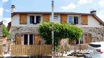 CORREZE. Orliac-de-Bar. Belle maison en pierre avec 3 chambres, dépendance en pierre avec garage et 4335m2 de terrain. Emplacement de campagne.