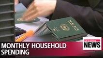 S. Korean households spent $2,370 a month last year: Statistics Korea