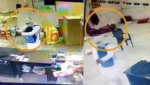 बदमाश ने फिल्मी स्टाइल में लूट लिया कोरियर कंपनी का दफ्तर, वारदात CCTV में हुई कैद