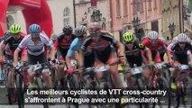 Course de VTT cross-country dans le centre historique de Prague