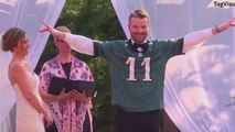 After bet with bride, groom changes into Eagles jersey mid-wedding