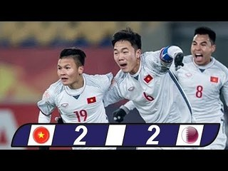 Highlights U23 VIỆT NAM vs U23 QATAR - VIETNAM WIN 4-3 ON PENALTY
