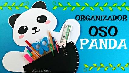 KAWAII DIY, Manualidades KAWAII FÁCILES DE PANDA, Organizador OSO PANDA, Panda kawaii, Reciclaje