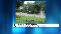 D!CI TV : Digne-les-Bains : 93 personnes évacuées du camping du Bourg suite aux orages