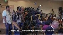 """Réfugiés syriens: l'ONU lance un appel """"urgent"""" aux donateurs"""