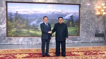 WATCH: Handshakes and hugs as South Korea's Moon Jae-in and North Korea's Kim Jong Un hold a surprise meeting on Saturday.(Video: Reuters / South Korean Presi