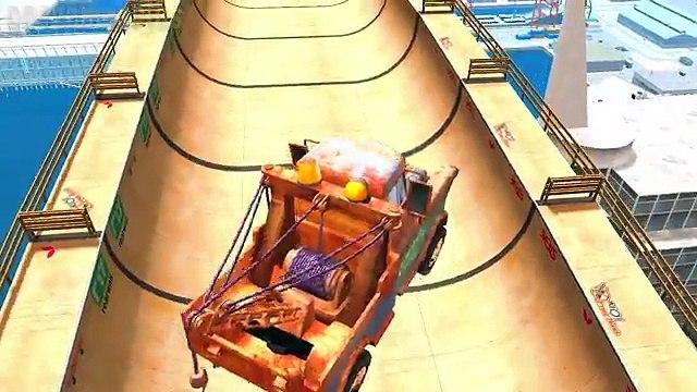 Nursery Rhymes Disney cars Lightning McQueen & Tow Mater & Mater Stunt Rocket