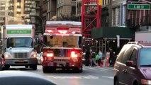 Un chauffeur refuse de laisser passer un camion de pompier.