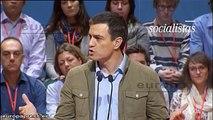 """Pedro Sánchez: """"Vamos a hacer una reforma fiscal de izquierdas. No vamos a subir ni un céntimo  de euro a la clase trabajadora."""""""