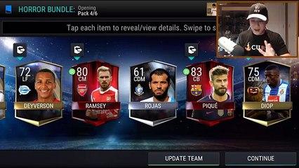 INSANE 2 ELITES IN ONE PACK!! HORROR BUNDLE OPENING!! FIFA Mobile