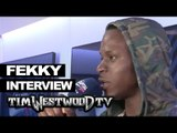 Fekky on new Section Boyz track, Dizzee Rascal, Culture Clash backstage at Wireless - Westwood