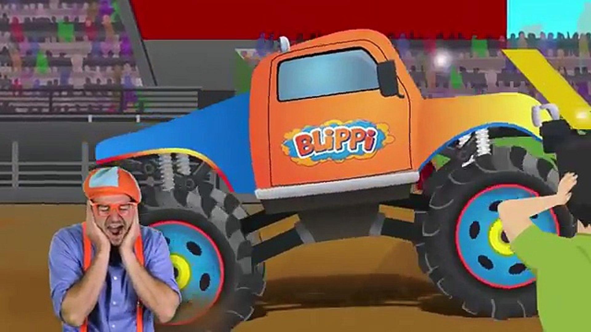 Monster Trucks With Blippi Toys Monster Truck Song For Kids Video Dailymotion