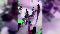 Une employée d'une crèche a été filmée en train de faire une sale blague à une enfant.