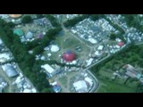 Glastonbury festival from the air 2010