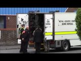 Bomb disposal team destroy live WW2 Howitzer shell - found in a skip