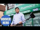 Hero pharmacist who fended off armed robber with a HENRY HOOVER