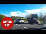 Elderly motorist caught driving the wrong way round a roundabout