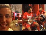 Mario Gotze, Dante & Rafinha Celebrate With Samba Party In Bayern Munich Changing Room