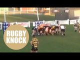 Hilarious video of rugby team demolishing posts with monster scrum