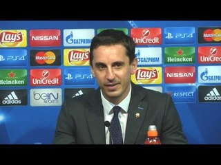 gary neville i dont care if we draw man utd valencia playing man utd in europe not on my mind