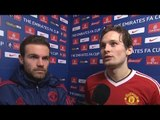 Derby County 1-3 Manchester United - Juan Mata & Daley Blind Post Match Interview