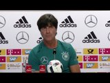 Germany Coach Joachim Loew Holds First Euro 2016 Press Conference At Evian-les-bains Base Camp