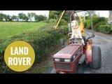 Dog shows off his farming skills - skillfully driving his master's tractor