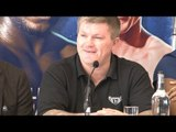 Press Conference With Boxing Promoter Eddie Hearn, Trainer Ricky Hatton & Boxer Ricky Burns