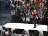 WWE SummerSlam 2004 jbl is chokeslammed through his limo by