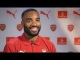 Alexandre Lacazette - Arsenal Striker's First Interview At The Gunners