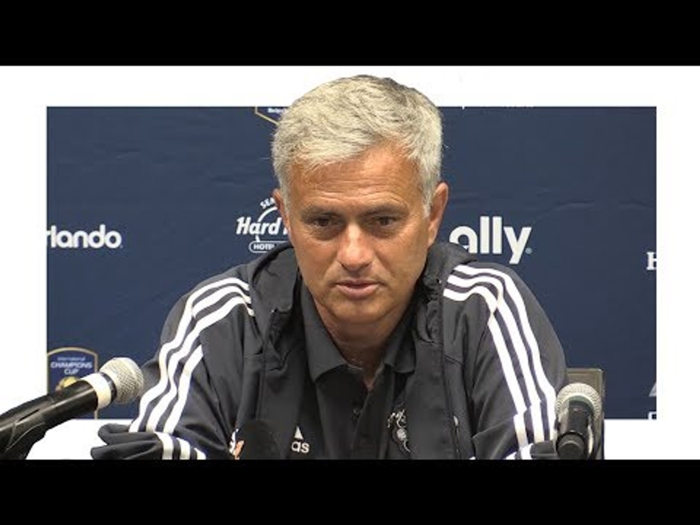Jose Mourinho Pre-Match Press Conference - Manchester United v Manchester City - Man Utd Tour 2017
