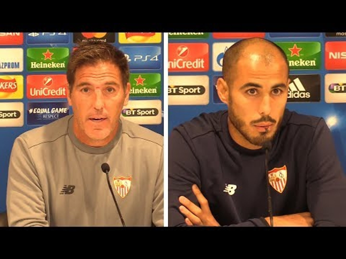 Eduardo Berizzo & Guido Pizarro Pre-Match Press Conference - Liverpool v Sevilla - Champions Lea