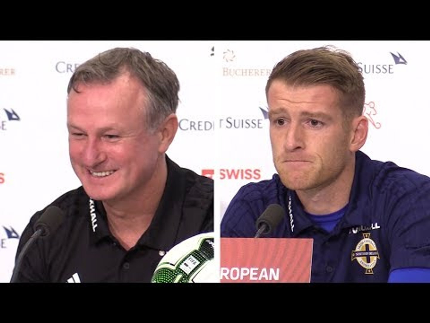 Michael O'Neill & Steven Davis Full Press Conference - Switzerland v Northern Ireland