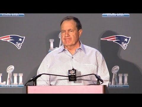 Super Bowl LII -  Bill Belichick Full Press Conference With New England Patriots Head Coach