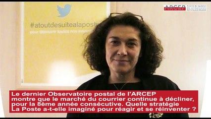 """"""" La Poste a vocation à devenir opérateur universel des échanges dans le monde numérique """" Interview de Nathalie COLLIN, DGA du groupe La Poste, en charge du numérique (22 octobre 2015)"""