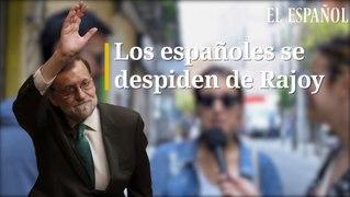 Los espanoles se despiden de Rajoy