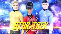 Doll Review: Barbie STAR TREK 50th Anniversary: Captain Kirk | Lieutenant Uhura | Spock - New Toys