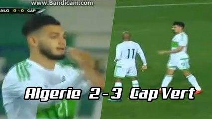 Les buts de Bensebaini et Bounedjah face au Cap Vert