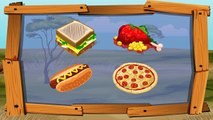 Learn Colors Learn Animal Name and Sound Lion w Animals Wild Eat Pizza Color for Children