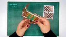 How to make a 3D christmas gingerbread house pop up card DIY (tutorial + free pattern)