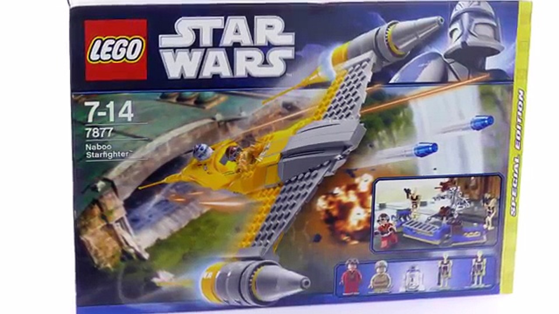 Lego Star Wars 7877 Naboo Starfighter Lego Speed Build Review Video Dailymotion