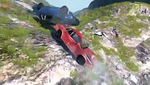 Big Chain Vehicles Couplers Crashes deep falls BeamNg drive #1