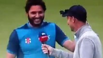Shahid Afridi Hilarious Answer to Nasser Hussain