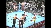 Jumbo Tsuruta/Rusher Kimura/Mitsuo Momota vs Mighty Inoue/Masao Inoue/Haruka Eigen (All Japan August 18th, 1996)