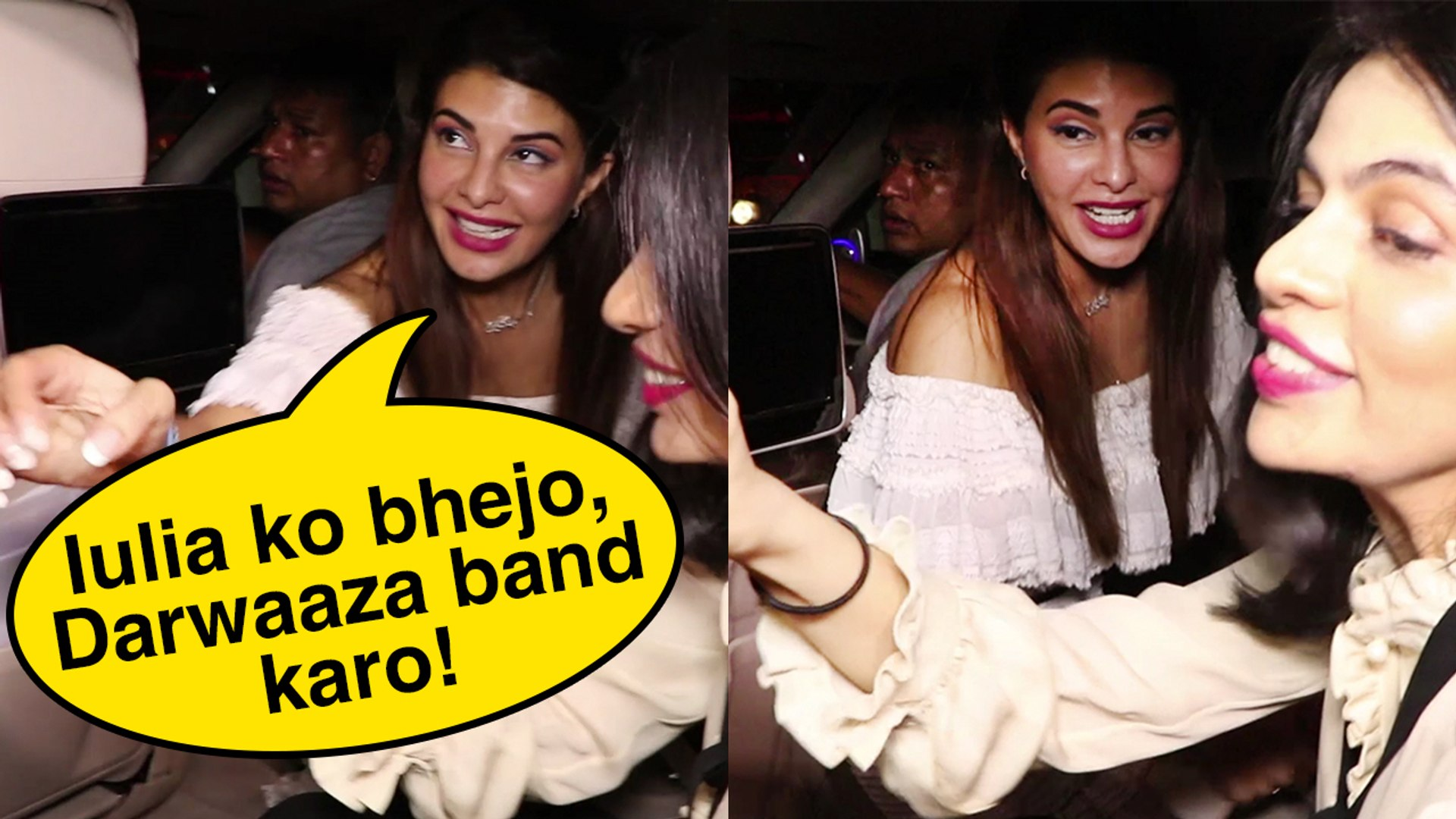 Jacqueline Fernandez Goes CRAZY In Car After RACE 3 Party | Bollywood Actress Funny Moments