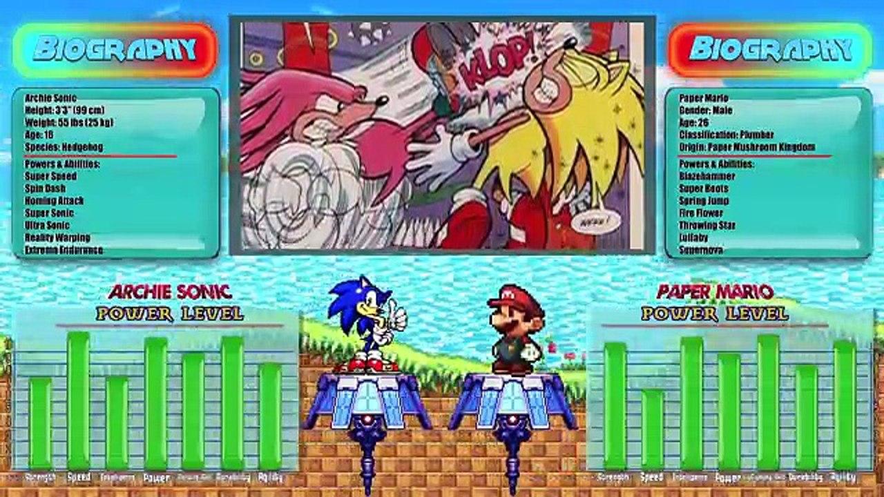Archie Sonic Vs Paper Mario Sonic The Hedgehog Vs Super Mario Rewind Rumble Dailymotion Video