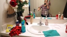 Cleaning Routine   Spring Bathroom Deep Clean   Stay At Home Mom