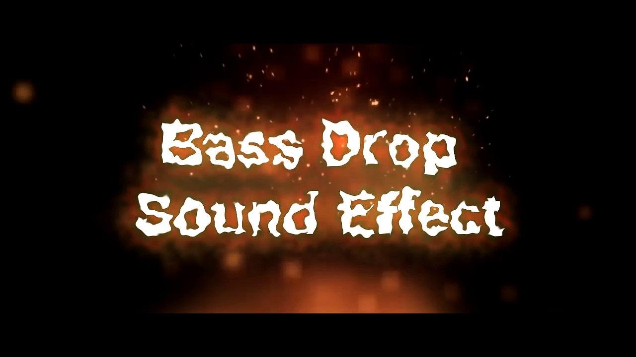 Bass Drop Sound Effect  mp4
