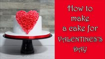 HEART CAKE for VALENTINES DAY! ❤ Valentines day cake tutorial